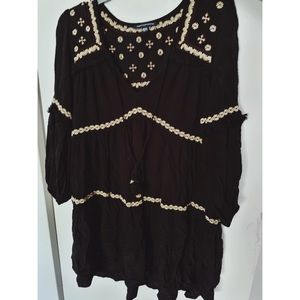 American Eagle Black tiered boho dress